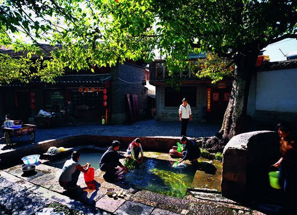 Three Wells in Lijiang Old Town