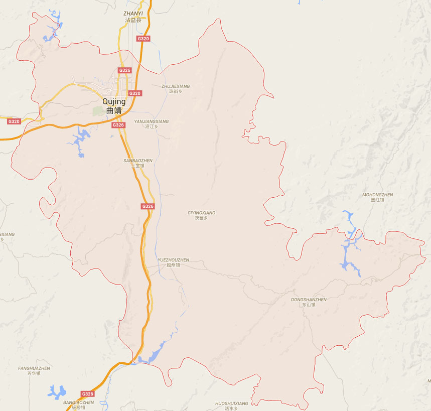 Maps Mapmaps Of Tour Map Travel Mapchina Maps Attractions - Qujing map