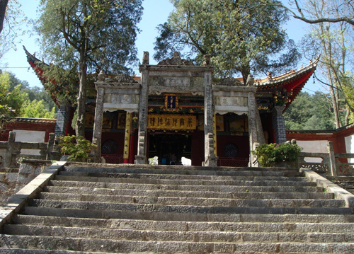 Taihua Temple in Western Hill in Kunming