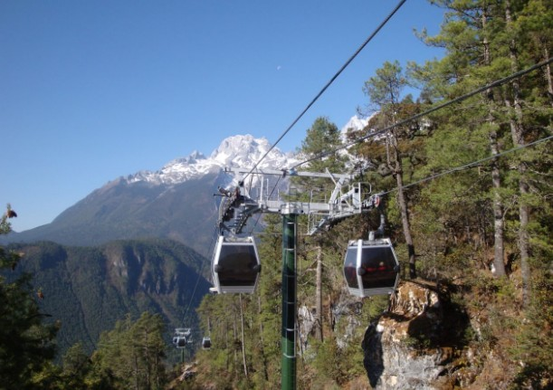 Spruce Meadow Cableway of Jade Dragon Snow Mountain in Lijiang