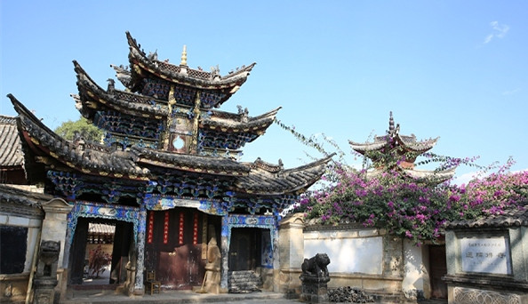 Qiannuo Buddhist Temple in Jinggu County,Puer