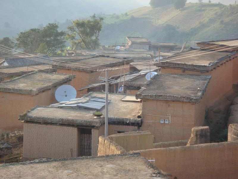 Hani Earthen Houses Of Naha Town in Mojiang County