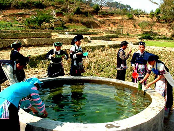 The Mythically Magic Twin Well in Mojiang County,Pu'er